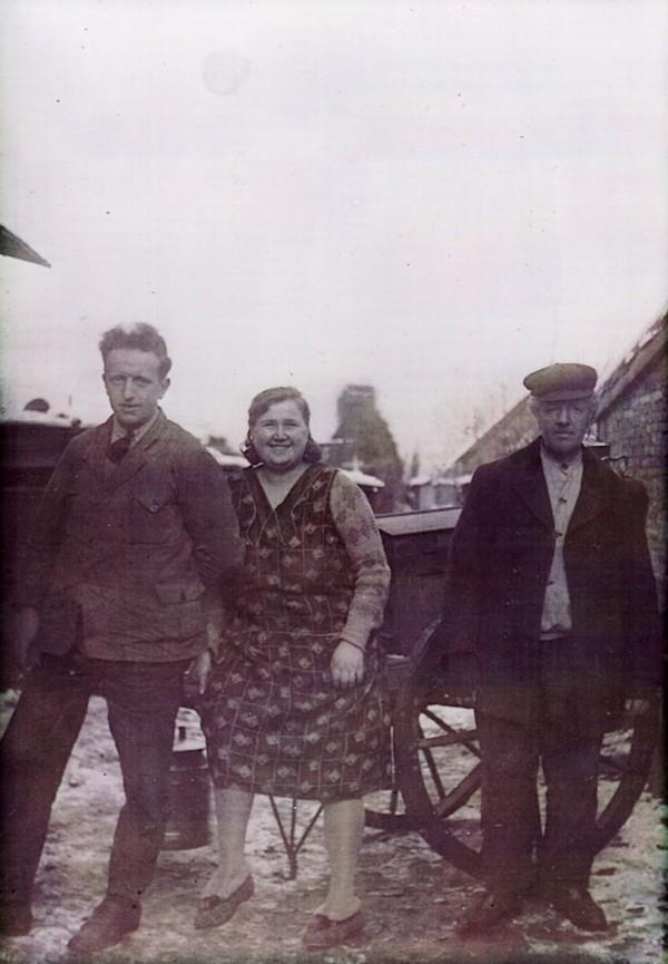 Cornelis Natter, Ernestine Grzenia en vader Willem Natter
