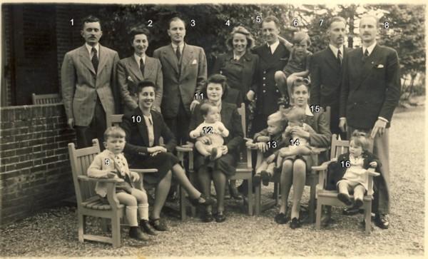 Kinderen en kleinkinderen van Johannes Franciscus Wijsmuller en Lea Rodrigues Pereira
