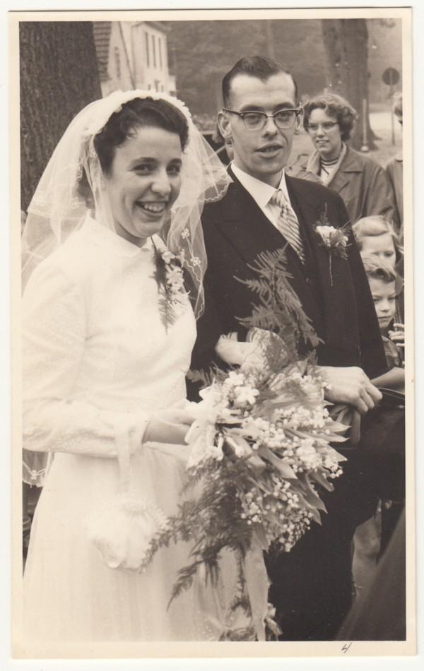 Jannetje Maria Vervat en Jan Knopper trouwfoto