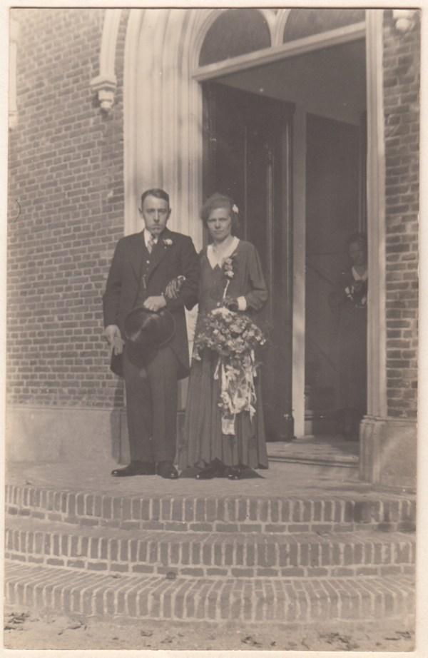 Goossen Verat en Hendrika Maria Costerus trouwfoto