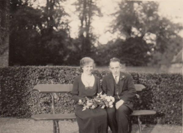 Hendrika Maria Costerus en Goossen Vervat trouwfoto