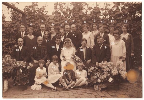 Familieportret huwelijk Johannes Gerardus van Hagen en Helena Nowacka