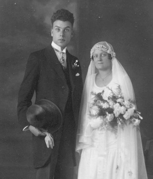 Willem Daniel Bos en Johanna Cornelia Langenberg trouwfoto