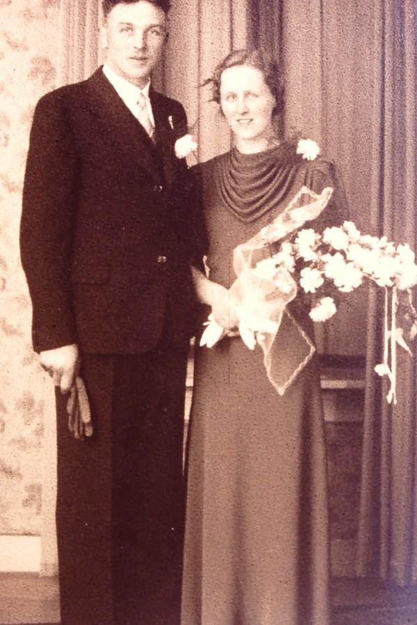 Johan Starink en Sifferina Veldhuijzen trouwfoto