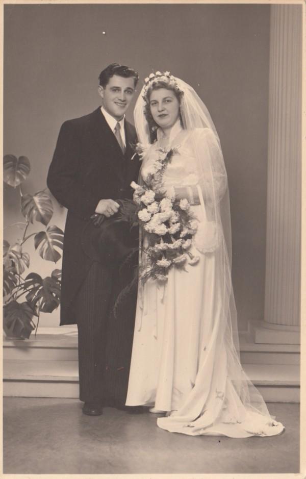Gerrit Willem van de Pol en Johanna Buining trouwfoto