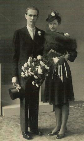 Frederik Otto Blom en Maria Margaretha van den Brink trouwfoto