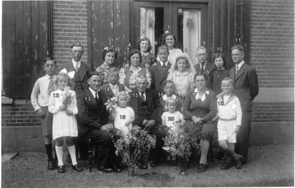 Foto  Familie Gerardus Gijsbertus de Bruijn en Catharina Elisabeth Vermeulen