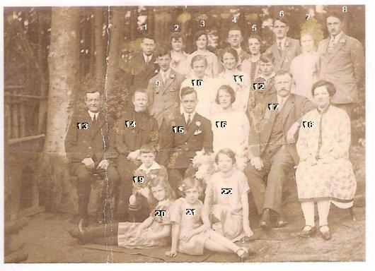 Familieportret Marinus van den Brink en Gerdina Maria Docter