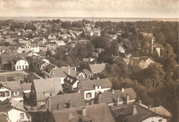 Panoramafoto Baarn genomen vanaf de watertoren aan de Sophialaan