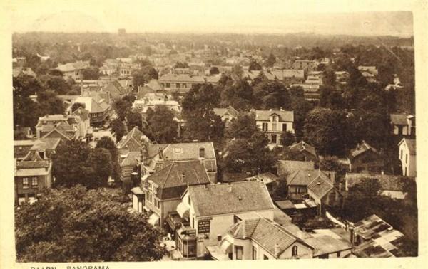 Panoramafoto Baarn genomen vanaf de kerktoren op de Brink