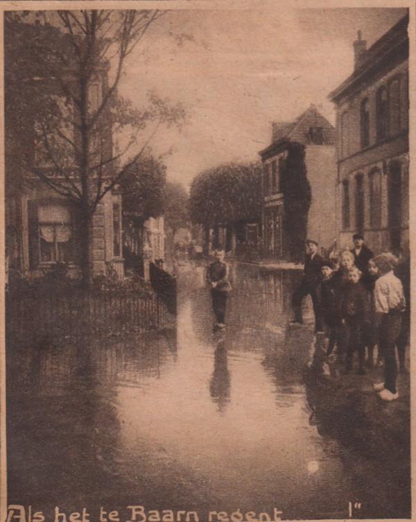 Wateroverlast in Baarn in 1918