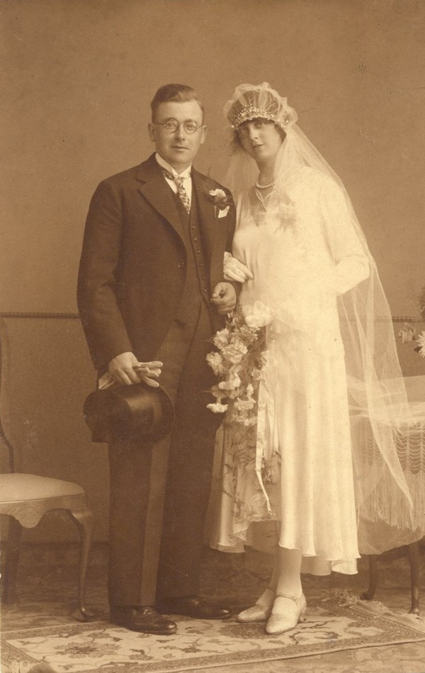 Hendrik Roskamp en Sanna Vreman, trouwfoto