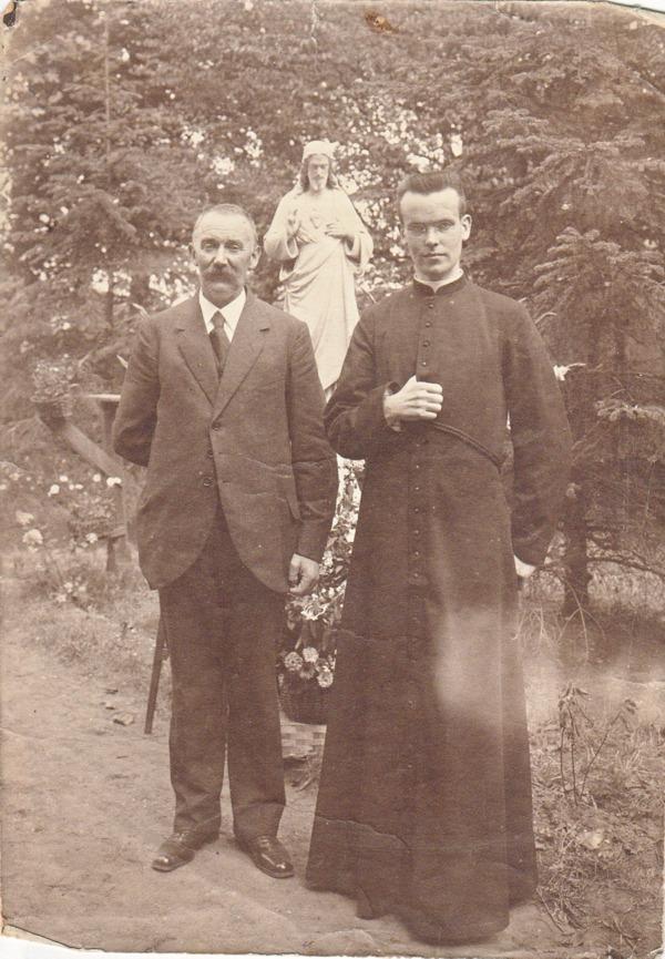 Foto  Bernardus Johannes van Klaarwater senior en junior