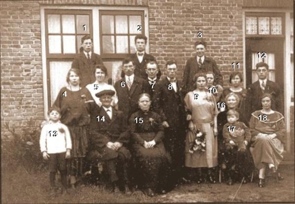 Lambertus Bout en Jannetje Suijk trouwfoto familieportret