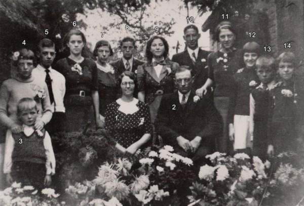 Hendrik Hornsveld en Geertruida Brandse familieportret