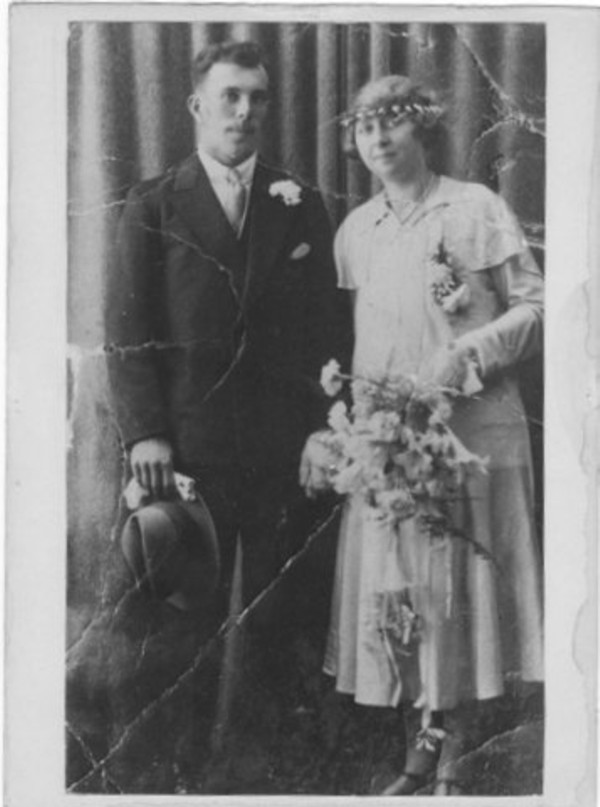 Foto  Willem Johannes van de Hoef en Johanna Maria Bosman