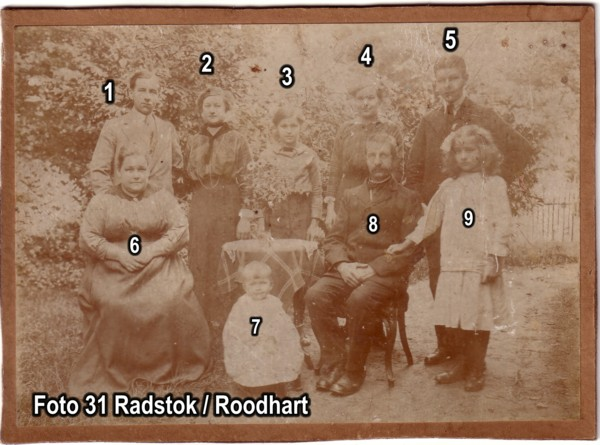 Familie Radstok / Roodhart