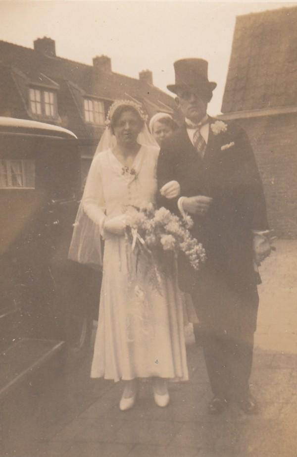 Betsy Sibylla Johanna Adriana Grimmelius en Jan Boelens trouwfoto