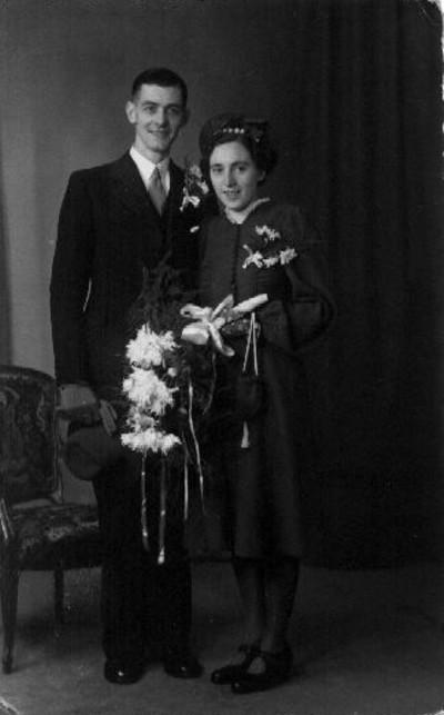 Jan van der Laan en Mina Breunesse trouwfoto
