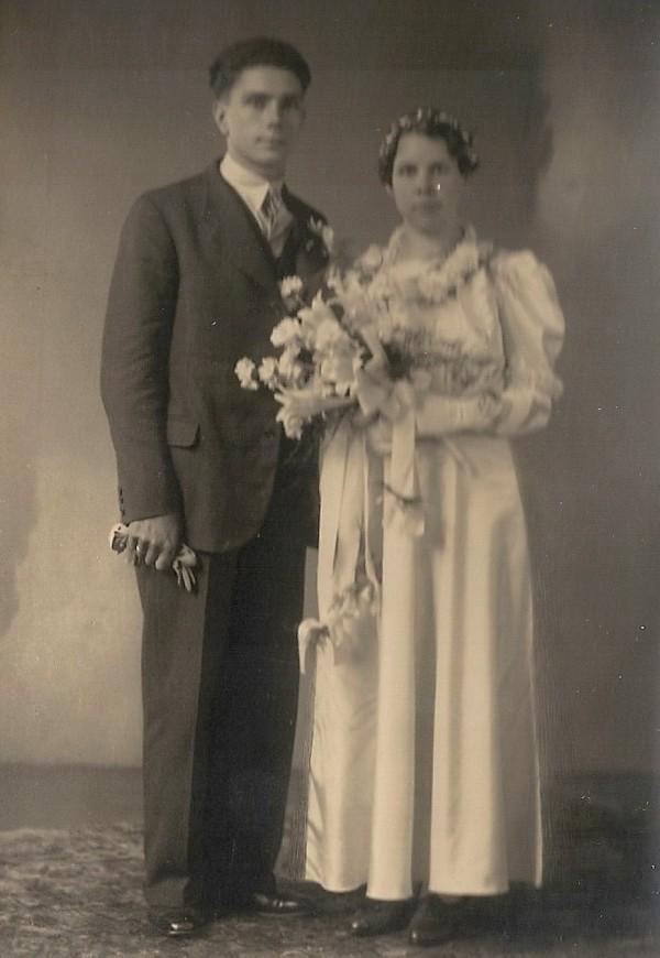 Pieter Perier en Kuinera Verleer trouwfoto