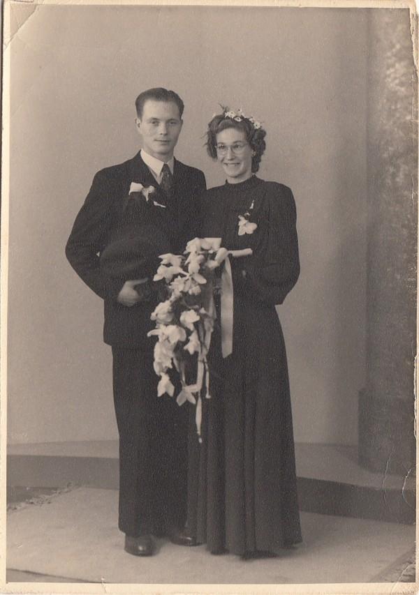 Christiaan Theodorus Scholten en Johanna Cornelia van den Heuvel trouwfoto