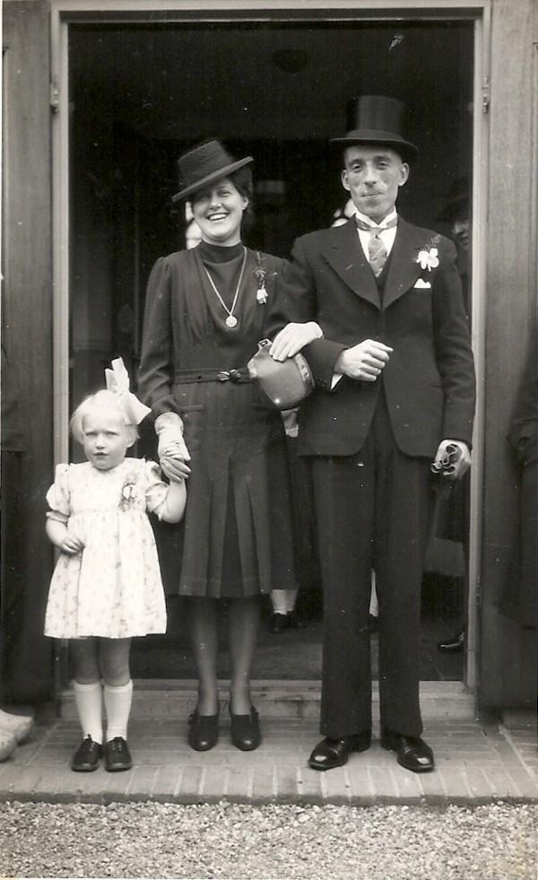 Jacob de Ruiter en Cornelia Roothart met dochter Gijsbertina de Ruiter