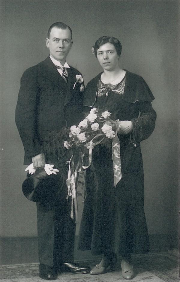 Antoni Lambertus Lammers en Elisabeth van der Horst trouwfoto