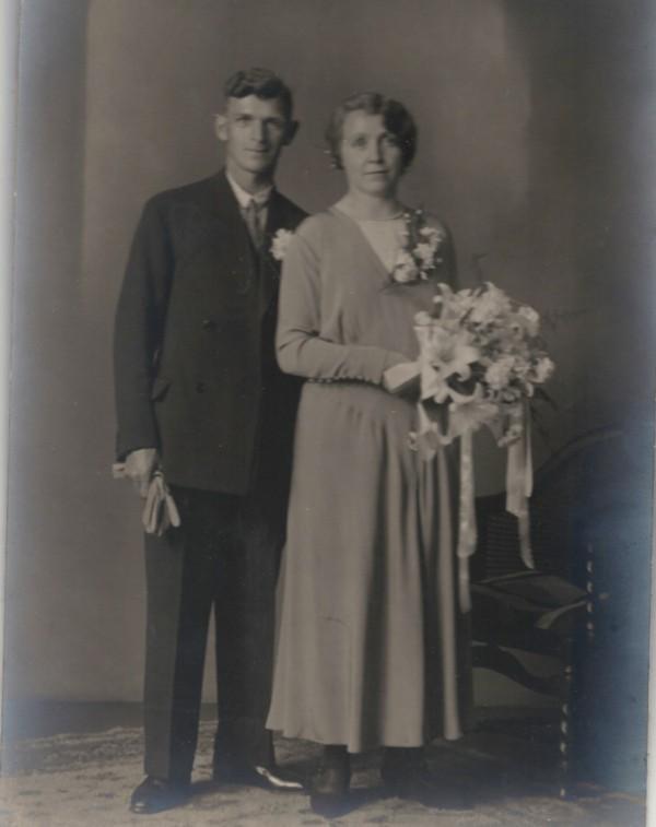Gerardus Praag en Adriaantje Petronella Verleer trouwfoto