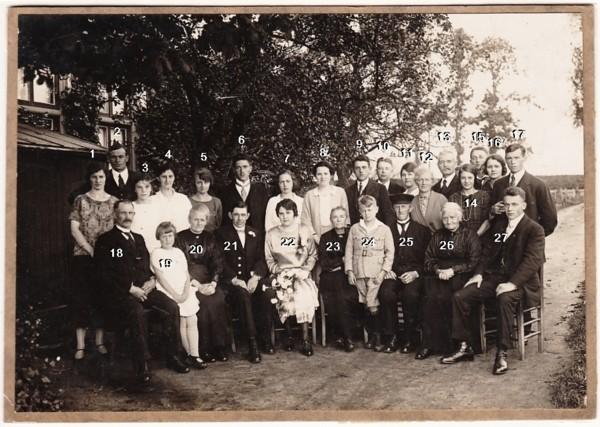 Willem van Ginkel en Alida de Koning, trouwdag