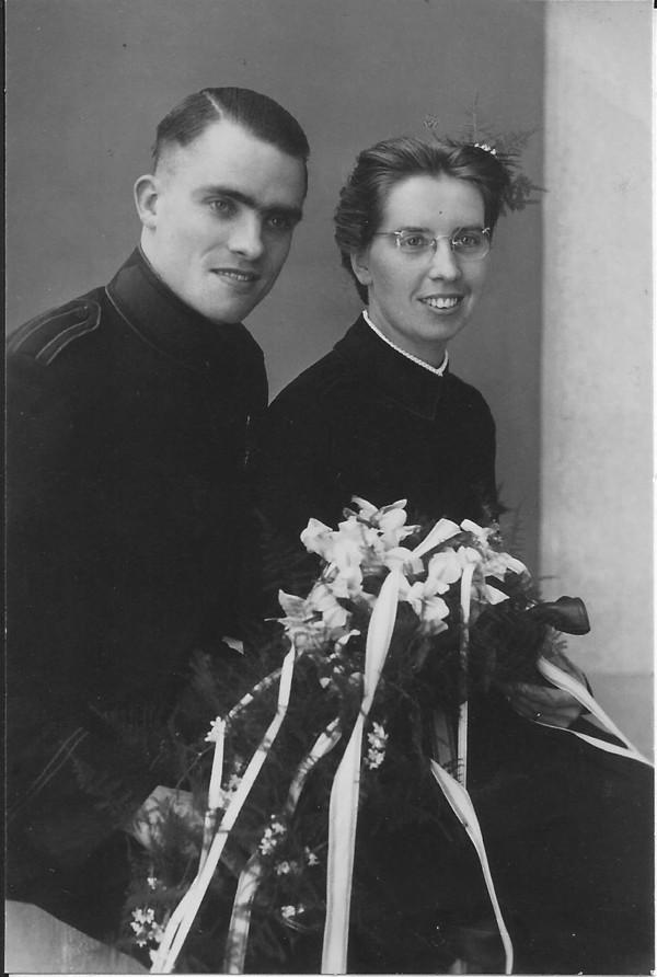Johan Anton Lodder en Trijntje Dijkstra, trouwfoto