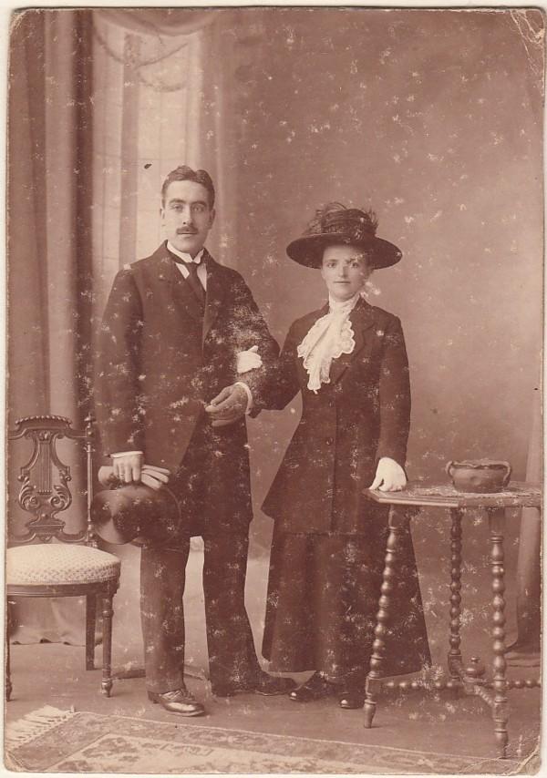 Johannes Vermeij en Geertruida Gerarda Verkerk trouwfoto