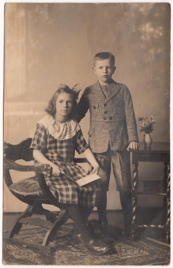 Broer en zus Fijtje Hornsveld en Hendrik Hornsveld