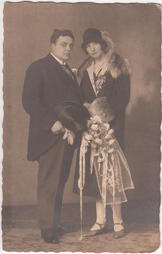 Hugo Jacobus Lengers en Elisabeth Roos trouwfoto