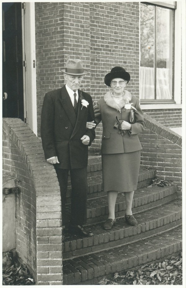 Foto  Anthonie Jan Oosterbroek en Clasina Elisabeth Rodrigo