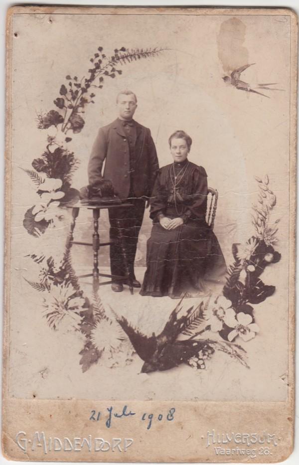 Gijsbertus Staal en Johanna Jongerden trouwfoto