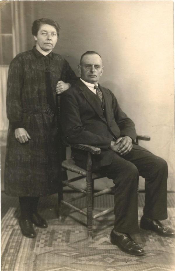 Foto  Aaltje van Geijtenbeek en Johannes van den Broek