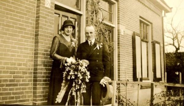 Arnoldus Hop en Berendina Pater trouwfoto