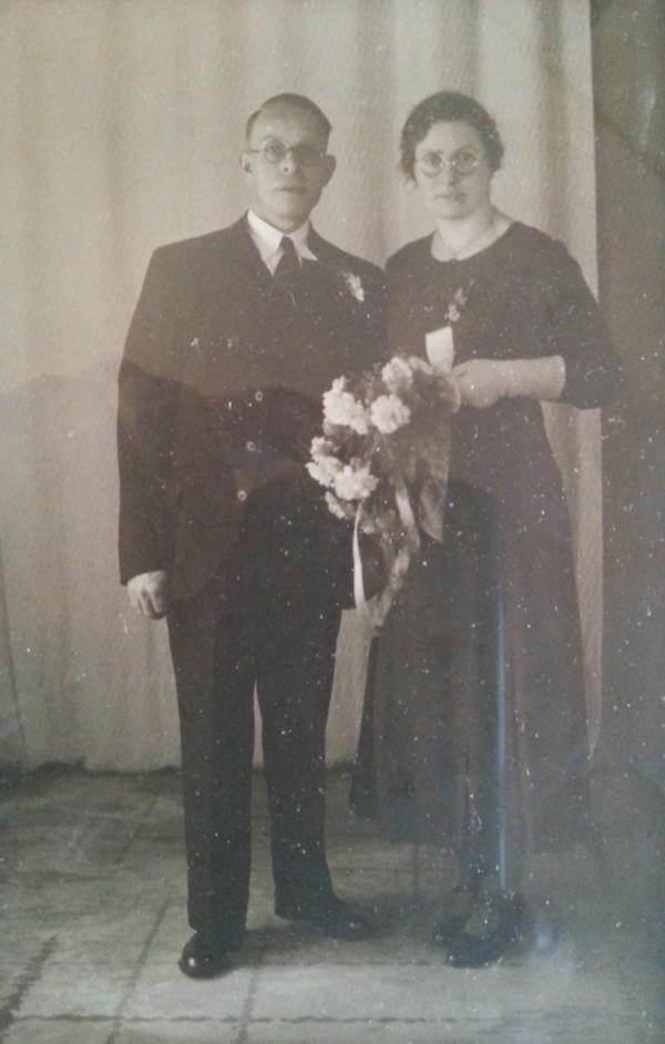 Albartus van Diermen en Lourina Hoogstrate trouwfoto