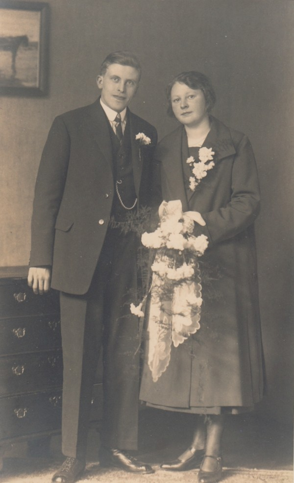 Harmen Hut en Jacoba Breunesse trouwfoto