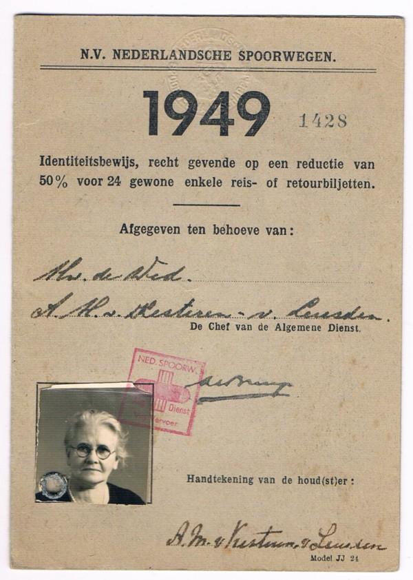 Annetha Maria van Leusden, identiteitsbewijs