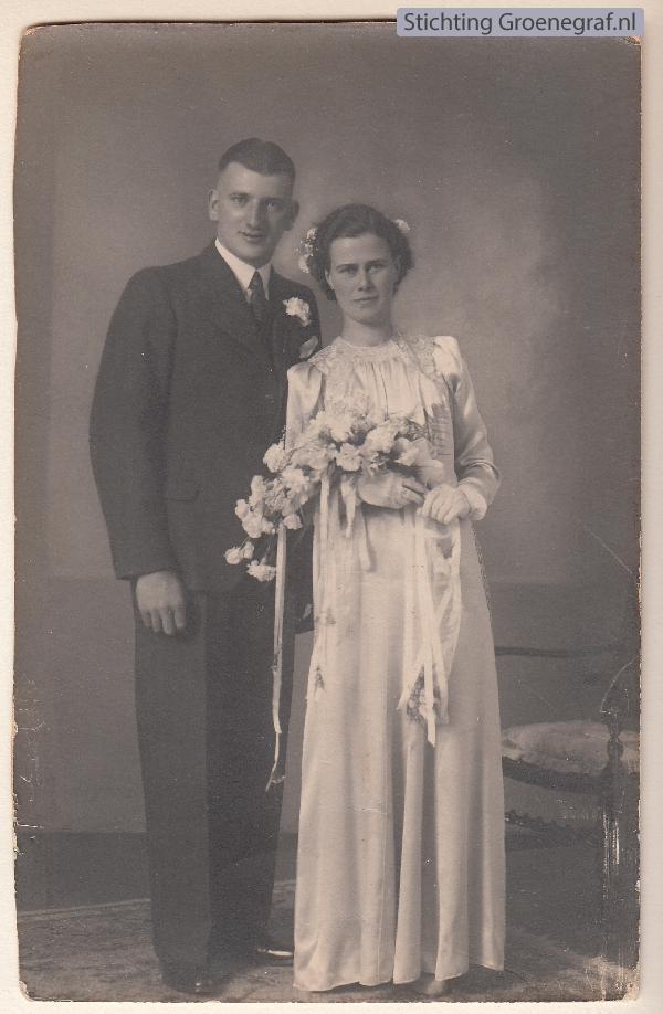 Gerrit de Gier en Francisca Johanna Everdina Limper trouwfoto