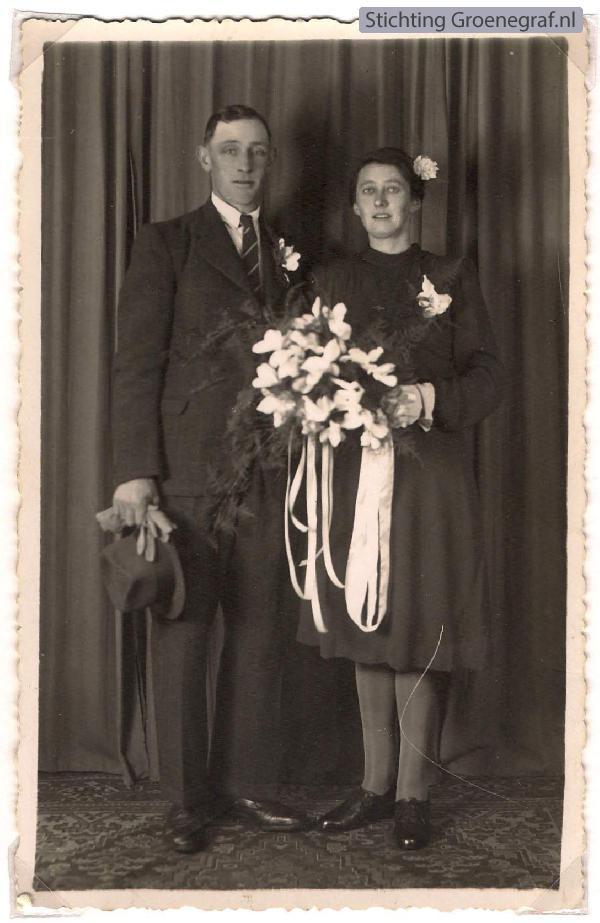 Arie Goor en Anna van de Berkt trouwfoto
