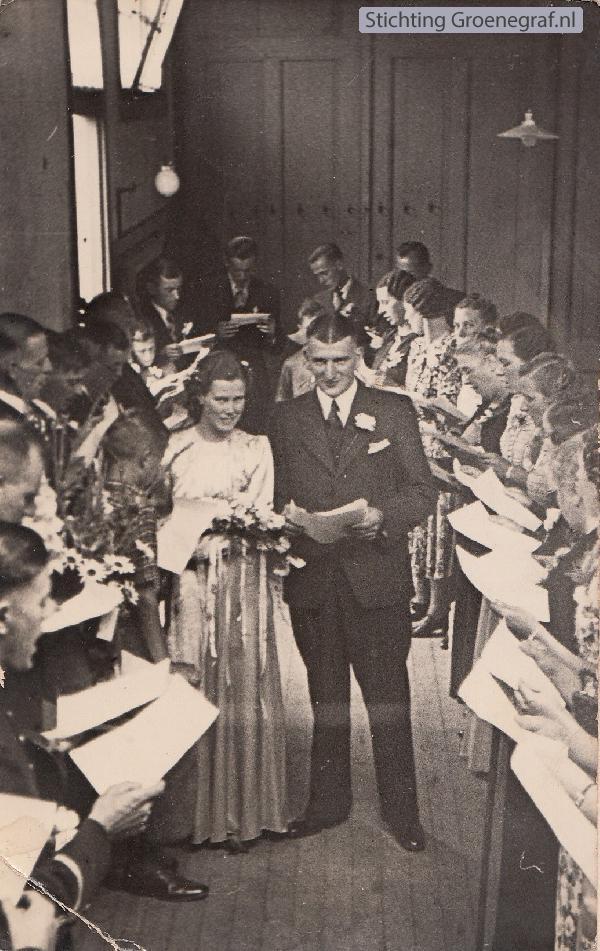 Bruidspaar Gerrit de Gier en Francisca Johanna Everdina Limper