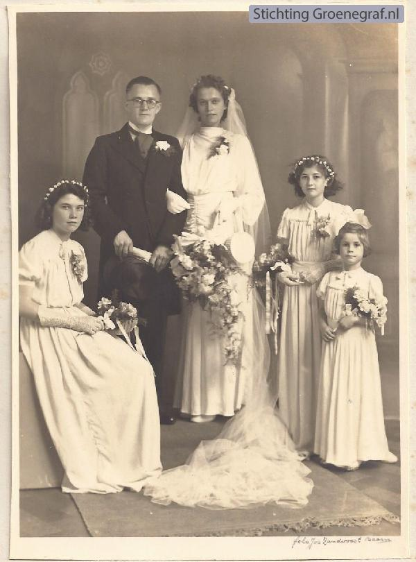 Aldert Wijbrands en Grietje Annie Spakman, trouwfoto
