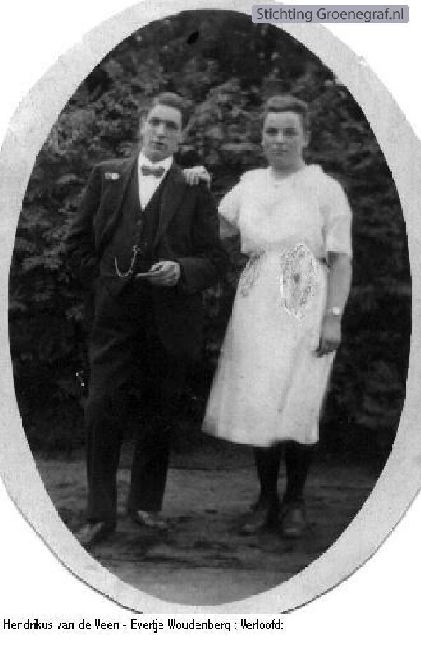 Hendrikus van de Veen en Evertje Woudenberg