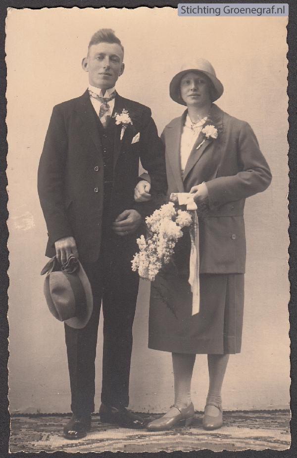Wilhelm Hendrikus Daselaar en Wilhelmina Sophia Kaats trouwfoto