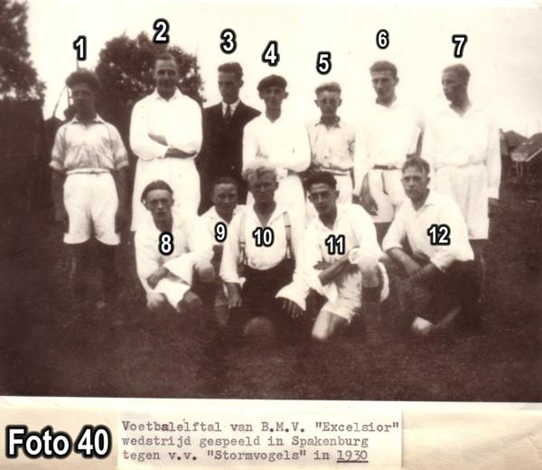 Voetbalelftal van BMV Excelsior