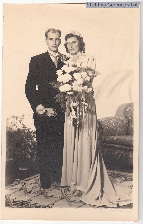 Jan Samuel van Zanten en Sjoekje Helena Hendrika Pot trouwfoto