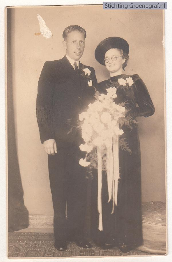 Lambertus Everardus Groen en Hendrika Jacoba Wanzing trouwfoto