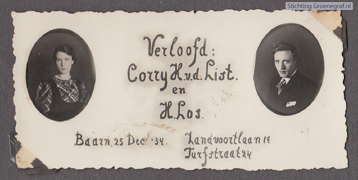 Cornelia Hendrika van der List en Hendrik Los
